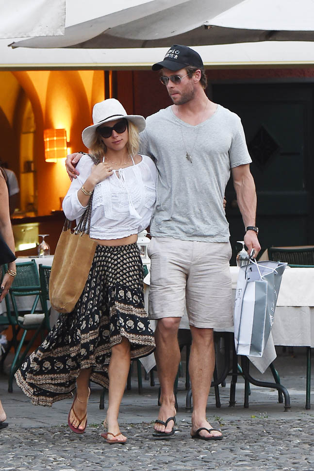Stage Son Chris Hemsworth And Elsa Pataky In Italy|lainey Gossip
