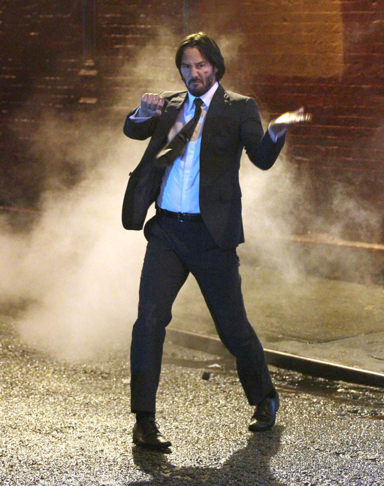 Badass Wallpapers Hd Keanu Reeves On The Set Of John Wick 2 In New York Lainey