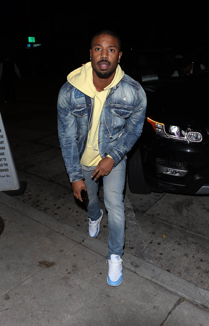 2 Swift Sexy Michael B. Jordan At Craig's In La