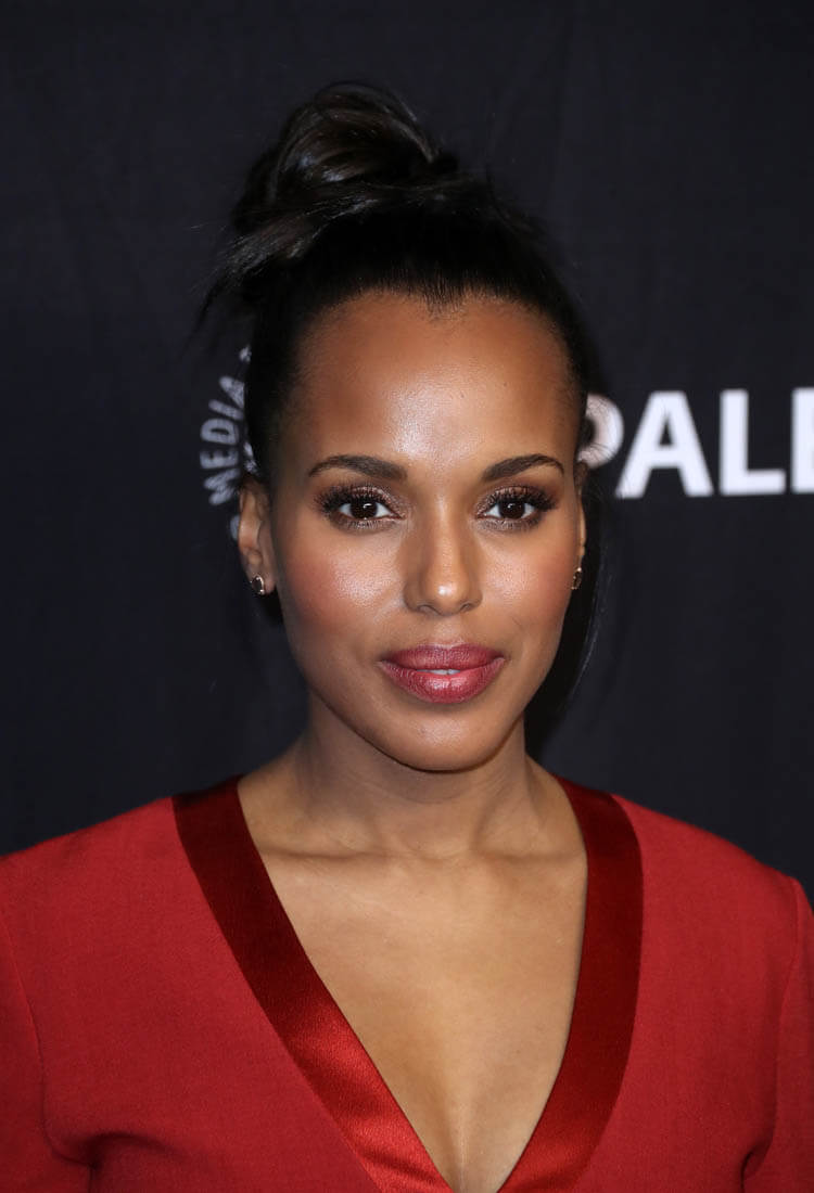 Hair Do To The Side Kerry Washington 39;s Red Jumpsuit Lainey Gossip Lifestyle