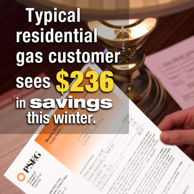 PSE&G Extends Residential Gas Bill Credits through April