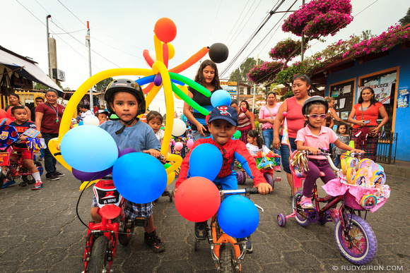Rudy Giron: Guatemala &emdash; Childrens Bicycle Parade in Panajachel