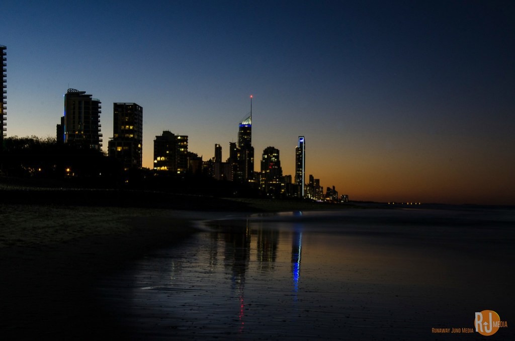 Surfer's Beach at night