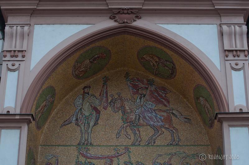 Astronomical Clock Detail: mosaic