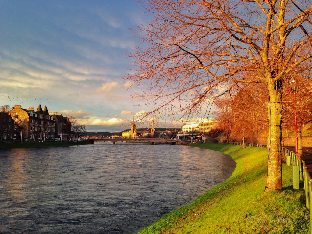 Inverness during the sunset