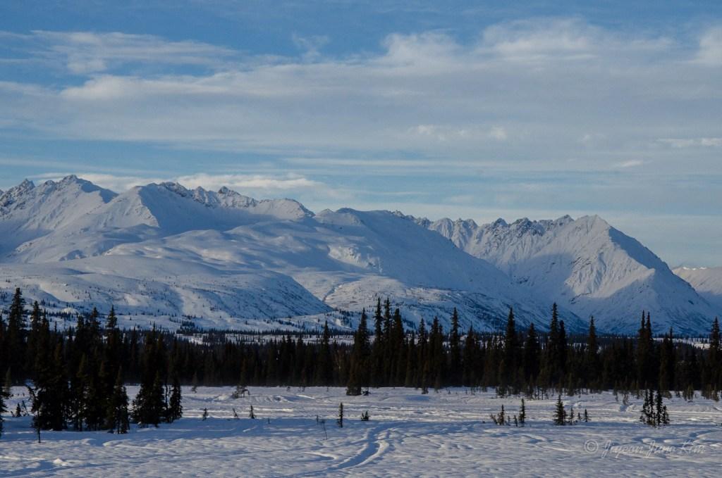 Rugged peaks of the Alaska Range near Mount McKinley
