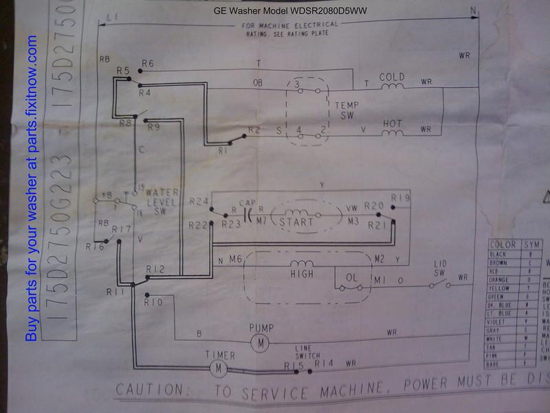 Ge Washer Schematic Wiring Diagram