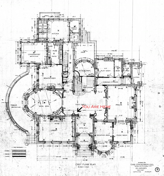 The floor plan of the McCormick Residence, Lake Forest Stuff that - copy construction blueprint school