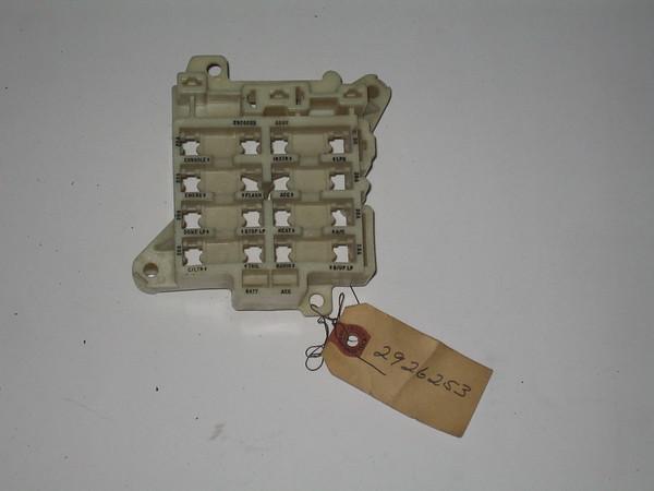 Mopar Fuse Box - Wiring Diagrams