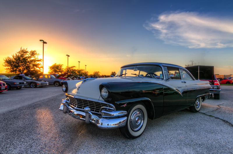 1957 Ford Fairlane at sunset. Photo by Tim Stanley