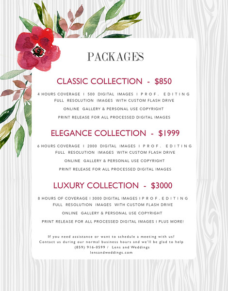 Pricing Details - Anna Esposito Photography
