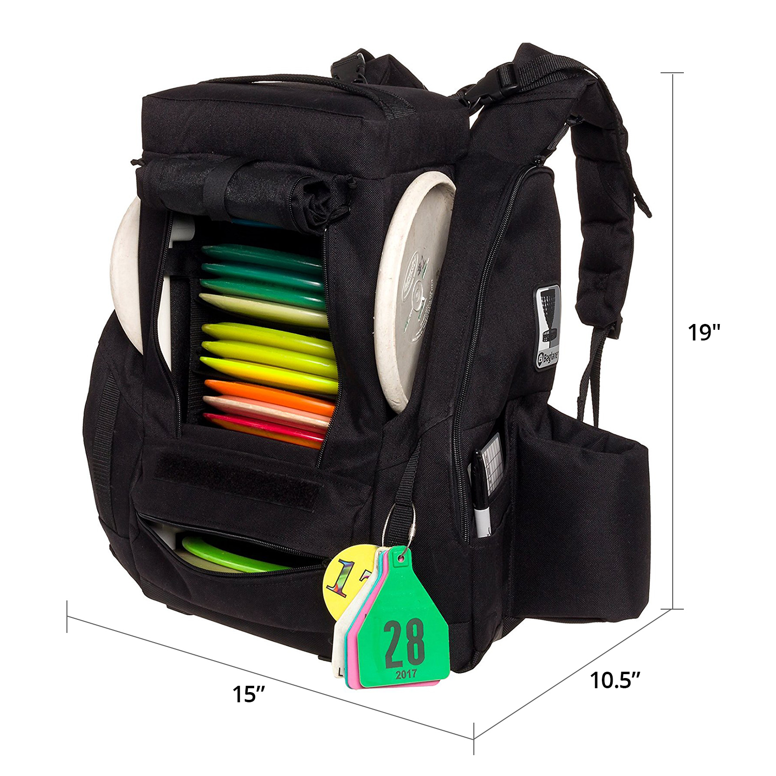 Fusion Pro Details About Fusion Pro 25 Disc Capacity Disc Golf Frisbee Backpack Bag W Built In Seat