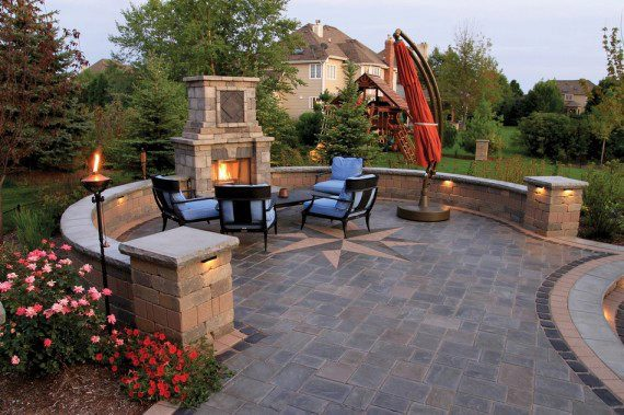 Richcliff Patio With Tuscany Fireplace Photos