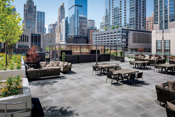 Loews Hotel Roof Deck With Umbriano In Chicago Photos