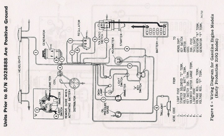 Case 446 Tractor Wiring circuit diagram template