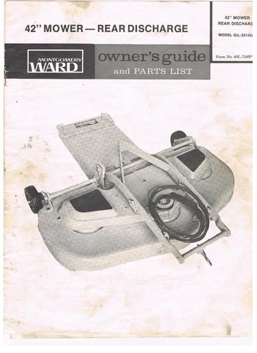 Gilson Lawn Mower deck belt - Yesterday\u0027s Tractors