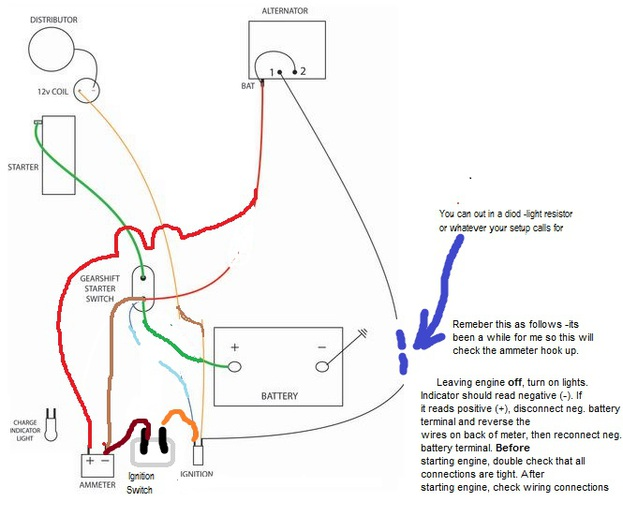 12 Volt Conversion Wiring Diagram For Ferguson Electrical Circuit