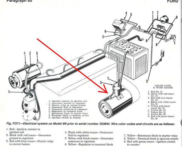 ford 8n starter wiring