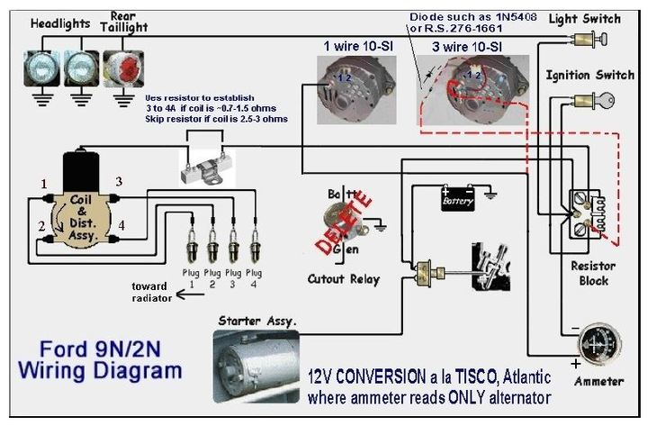 8n Ford Ammeter 12v Wiring - Schematics Wiring Diagram  N Volt Wiring Diagram on 8n 12 volt conversion wiring, 8n 6 volt regulator, 8n ford points distributor wiring, 8n 12 volt conversion diagram,