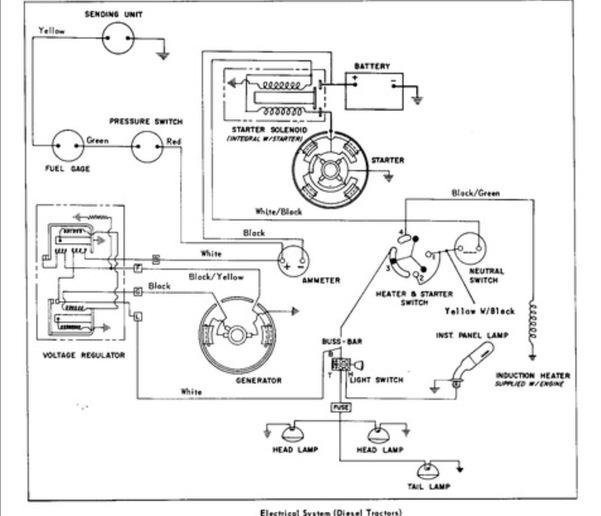 massey ferguson 175 diesel wiring diagram