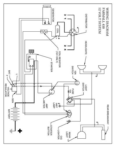wiring diagram for a farmall gas 450