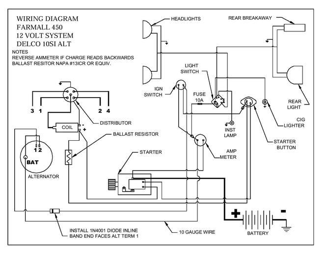 ih farmall 450 wiring diagram