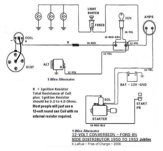 Ford 8n 12 Volt Wiring manual guide wiring diagram