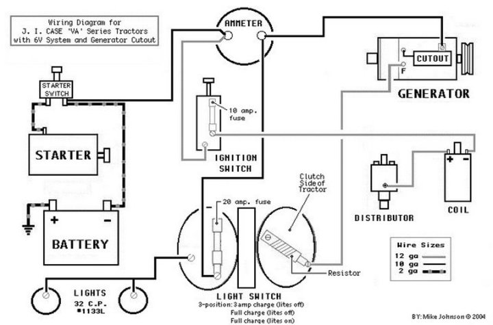 generator wiring diagram for a case bc