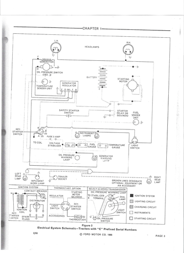 ford 3400 tractor wiring diagram