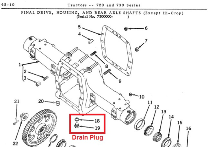 farmall super a rear axle diagram
