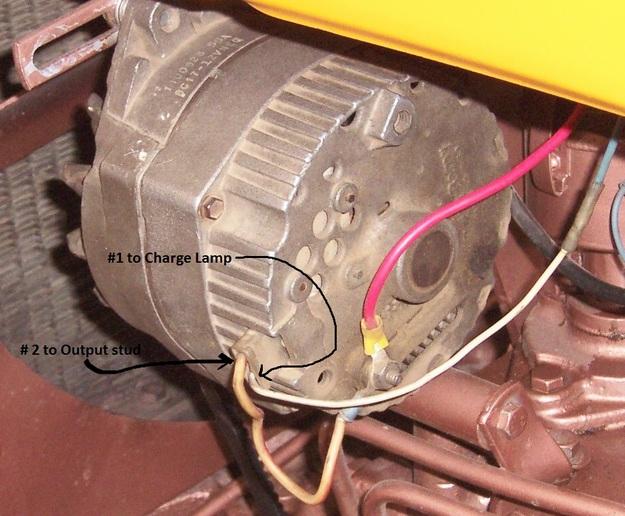 Alternator conversion on Oliver 550 Gas 1972 - Oliver, Cletrac, Coop