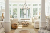 Cottage Living Room with Carpet by Nicola Manganello