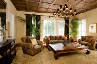 Traditional Living Room with terracotta tile floors by ...