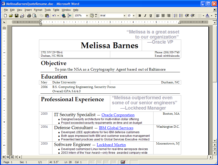 Make Resume Appealing | Cover Letter Examples Business Analyst