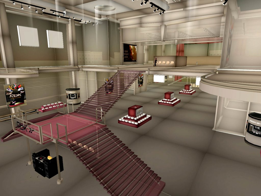 Second Life Store Advertising Lab Reebok S Store In Second Life