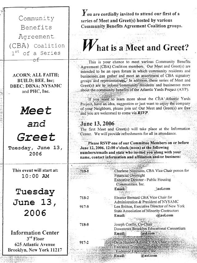 CBA coalition launches invite-only  - business meet and greet invitation wording