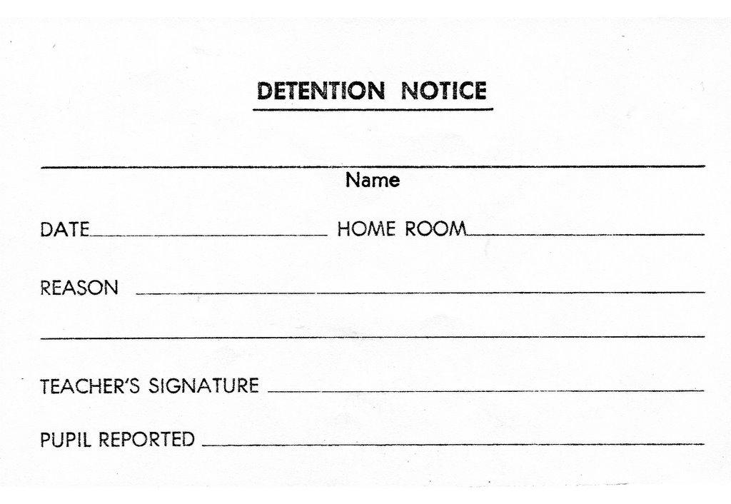 Amazing Detention Slips Template Pattern - Professional Resume ...