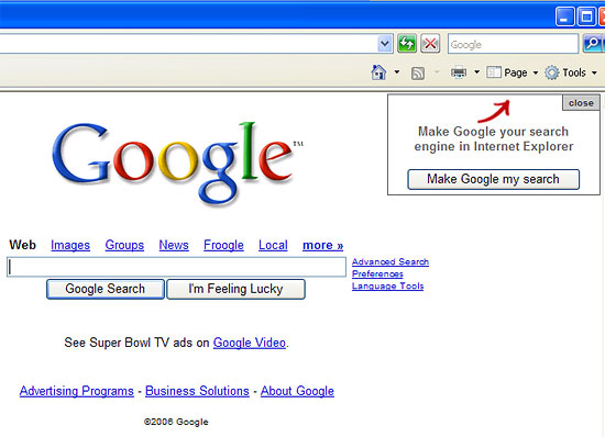 Create Your Google Account Google Looks Forward To Internet Explorer 7