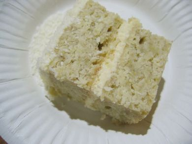 Have a slice of banana coconut cake