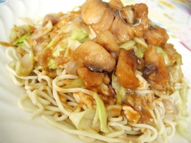 Cabbage tofu noodles