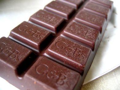 closeup of chocolate