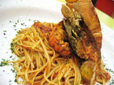 grilled slipperlobster pasta