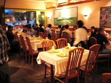 interior of brazil churrascaria