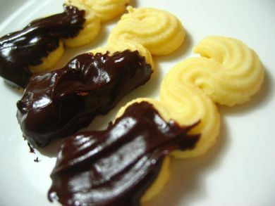 Viennese fingers with choc