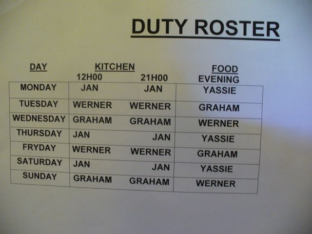 Soldier of Africa Our Duty Roster