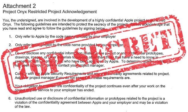 Inside Apple\u0027s secret confidentiality agreements Code names