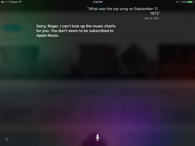 Siri limits music chart questions to Apple Music subscribers - music chart