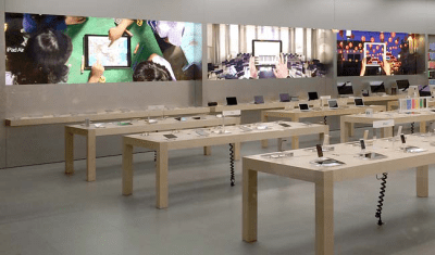 Apple debuts new banners in retail stores, showcases iPhone and iPad through photography