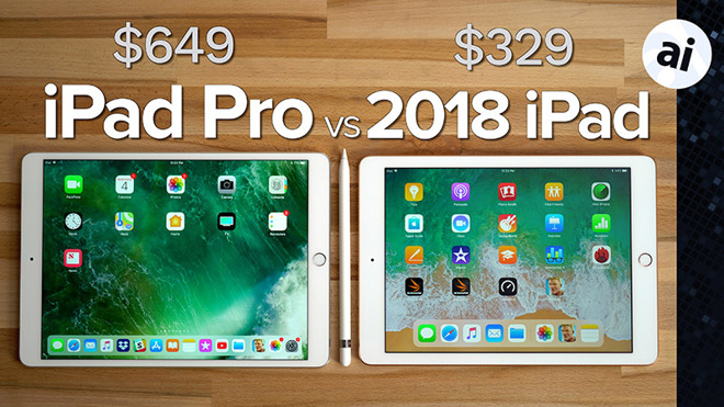 Watch 2018 iPad vs 2017 105-inch iPad Pro