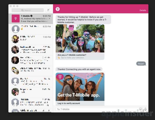 T-Mobile integrates new Apple Business Chat support - tmobile costumer service